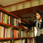 Farkhunda Zahra Naderi reconstructed the library