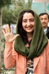 Afghan MP Farkhunda Zahra Naderi Vote on Election Day