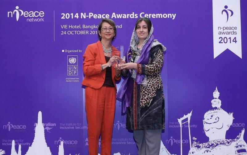 Young Afghan activist Hasina Jalal wins 2014 N-Peace Award