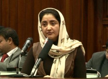 Miss Naderi in Parliament