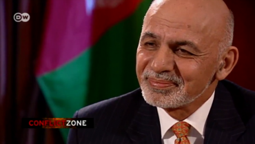 President Ghani's Interview in Conflict Zone