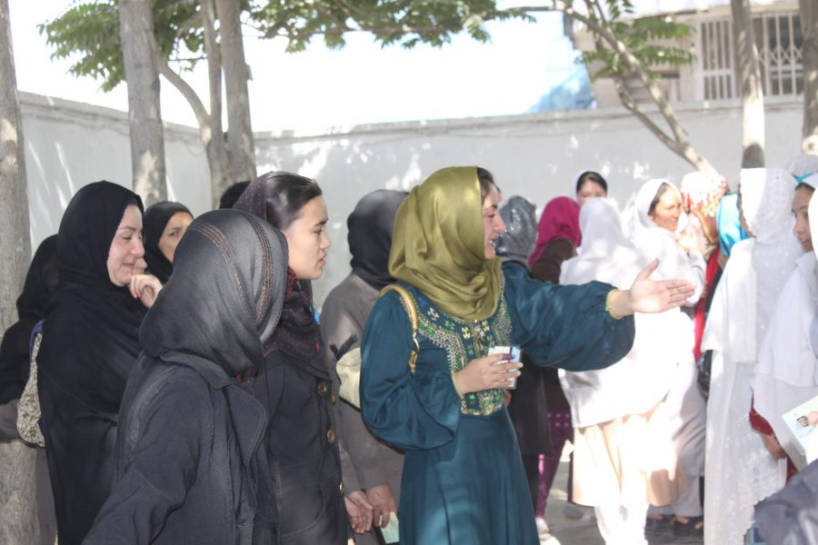 FZN Head of Youth and Women Committee of NUPA in Hamid Karzai's Presidential Election Day, 2009