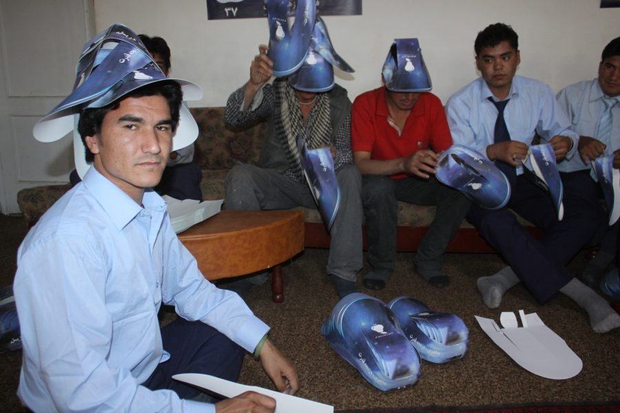 FZN 's Team Members Preparing Parliamentary Campaign Materials for distribution, Kabul,2010