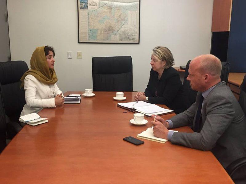 Farkhunda Zahra Naderi met Chatherine Howard, Head of Policy at OCHA covering Afghanistan