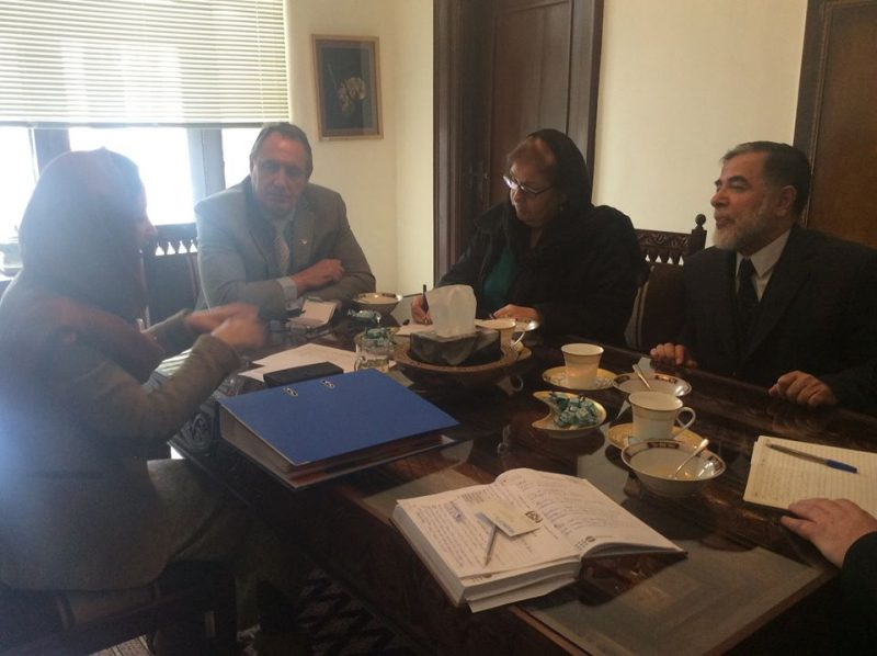 Meeting with Haider Reza Director a.i and Regina Carbonell Deputy representative of UNOPS