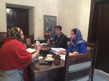 Meeting with Adele khodr Country Representative and Luc Chauvin deputy Country Representative of UNICEF