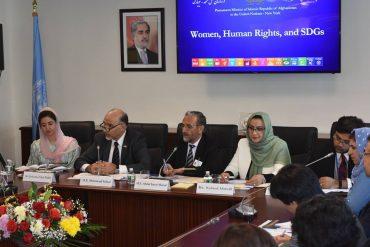 Farkhunda Zahra Naderi at Women, Humen Rights and SDGs side event