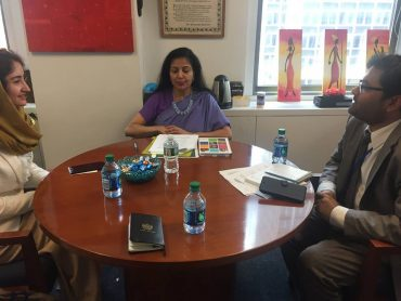 Meeting with Ms. Lakshmi Puri, Deputy Director of UN-Women and Assistant Secretary-General