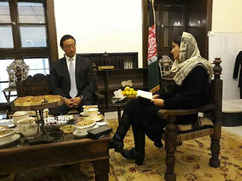 Farkhunda Zahra Naderi meeting with UNDP country director